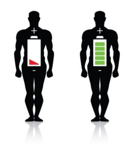 15570363 - human body high low battery isolated