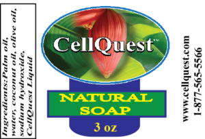 3 ounce CQ natural soap label